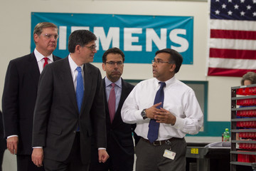 Eric Spiegel Jacob Lew Visits Siemens Manufacturing Facility