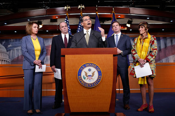 Eric Swalwell Pelosi And House Democrats Hold News Conference Discussing Republican Agenda