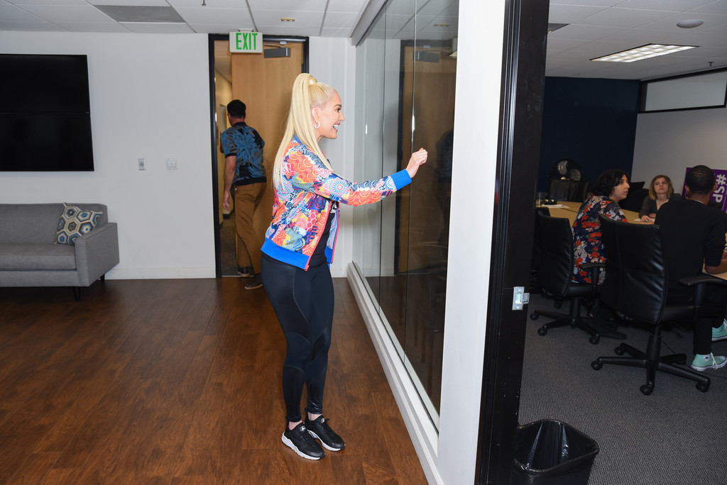 Erika Jayne Erika Jayne Photos Erika Jayne Surprises Glaad Offices In Los Angeles To Recognize Hard Work And Commitment Of Staff And Volunteers Zimbio