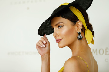 Erin Holland Celebrities Attend Moet & Chandon Spring Champion Stakes Day