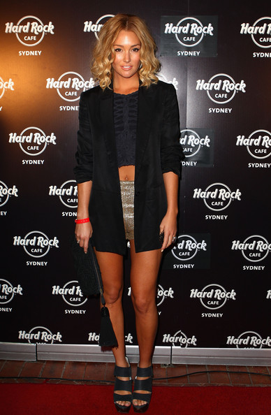 Erin McNaught Erin McNaught arrives at the Hard Rock Cafe official opening at Darling Harbour on December 6, 2011 in Sydney, Australia.