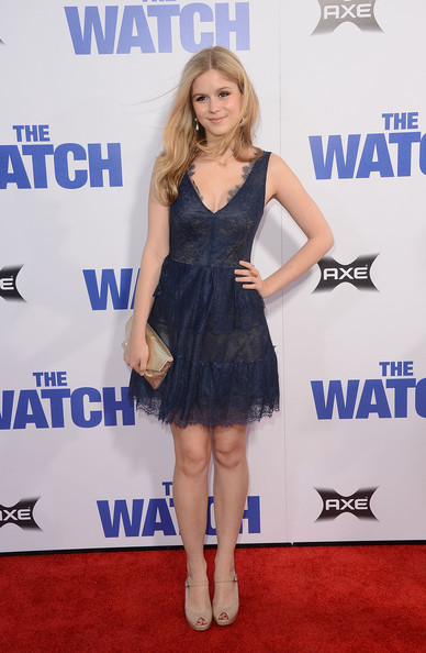 Century Fox s   The Watch   Erin Moriarty The Watch Red Dress