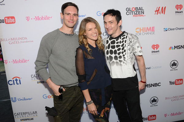 2015 Global Citizen Festival in Central Park to End Extreme Poverty by 2030 - VIP Lounge [red,yellow,event,premiere,carpet,taylor,actors,cory michael smith,erin richards,robin,end extreme poverty,l-r,central park,lounge,global citizen festival]