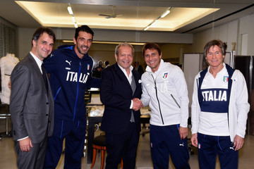 Ermanno Scervino Italy's National Football Team Visit Ermanno Scervino Atelier in Florence