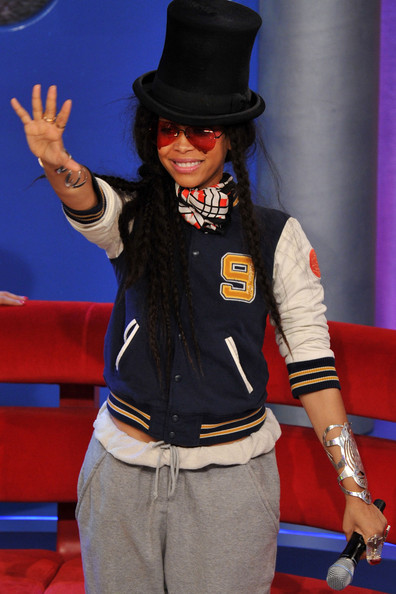 "Recording artist Erykah Badu visits BET's ""106 & Park"" at BET Studios on March 29, 2010 in New York City."