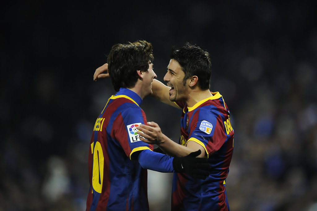 lionel messi david villa photos espanol v barcelona la liga zimbio. Black Bedroom Furniture Sets. Home Design Ideas