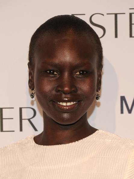 Model Alek Wek attends the Estee Lauder 'Modern Muse' Fragrance Launch Party at the Guggenheim Museum on September 12, 2013 in New York City.