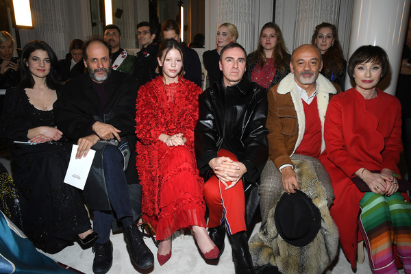 Valentino: Front Row - Paris Fashion Week - Haute Couture Spring Summer 2019