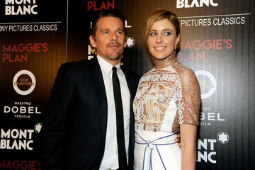 Ethan Hawke Greta Gerwig Montblanc and the Cinema Society Host a Screening of Sony Pictures Classics' 'Maggie's Plan' - Arrivals