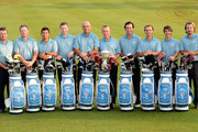 Team Europe. L/R. Graeme McDowell of Northern Ireland, Jamie Donaldson of Wales, Pablo Larrazabal of Spain, Stephen Gallacher of Scotland, Thomas Bjorn of Denmark, The Captain Miguel Angel Jimenez of Spain,  Gonzalo Fernadez-Castano of Spain, Joost Luiten of The Netherlands, Thorbjorn Olesen of Denmark and Victor Dubuisson of France pictured during the team photocall prior to the EurAsia Cup at the Glenmarie G&CC on March 26, 2014 in Kuala Lumpur, Malaysia.