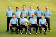 Team Europe. Back row L/R. Jamie Donaldson of Wales, Pablo Larrazabal of Spain, Gonzalo Fernadez-Castano of Spain, Stephen Gallacher of Scotland, Victor Dubuisson of France and Joost Luiten of The Netherlands. Front row L/R. Graeme McDowell og Northern Ireland, The Captain Miguel Angel Jimenez of Spain, Thomas Bjorn of Denmark and Thorbjorn Olesen of Denmark pictured during the team photocall prior to the EurAsia Cup at the Glenmarie G&CC on March 26, 2014 in Kuala Lumpur, Malaysia.