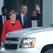 Barack Obama and Angela Merkel Photos