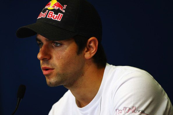 Jaime Alguersuari of Spain and Scuderia Toro Rosso attends the drivers press conference during previews to the European Formula One Grand Prix at the Valencia Street Circuit on July 24, 2010, in Valencia, Spain.