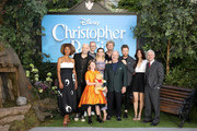 Sophie Okonedo, Marc Foster, Mark Gatiss, Bronte Carmichael, Hayley Atwell, Jim Cummings, Ewan McGregor, Simon Farnaby and Renee Wolf attend the European Premiere of Disney's 'Christopher Robin' at BFI Southbank on August 4, 2018 in London, England.