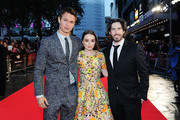 Ansel Elgort, Kaitlyn Dever and Director Jason Reitman attend the European Premiere of Paramount Pictures 'Men, Women & Children' at Odeon Covent Garden on October 9, 2014 in London, England.