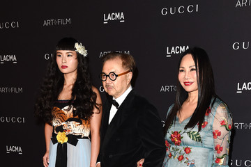 Eva Chow Michael Chow LACMA 2015 Art+Film Gala Honoring James Turrell and Alejandro G Inarritu, Presented by Gucci - Red Carpet
