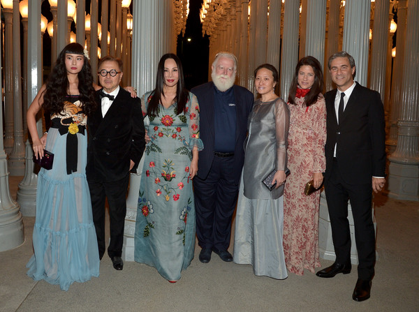 LACMA 2015 Art+Film Gala Honoring James Turrell and Alejandro G Inarritu, Presented by Gucci - Inside [event,formal wear,ceremony,dress,suit,wedding,fun,gown,wedding dress,wedding reception,james turrell,eva chow,asia chow,kyung-lim lee,alejandro g inarritu,director,honoree,lacma,gucci,lacma 2015 art film gala]
