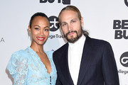 Zoe Saldana and Marco Perego arrive at the Eva Longoria Foundation Dinner Gala at Four Seasons Hotel Los Angeles at Beverly Hills on November 8, 2018 in Los Angeles, California.