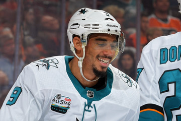 Evander Kane San Jose Sharks vs. Philadelphia Flyers