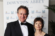 Carolyn Miller CEO of Merlin and Hugh Bonneville attend an Evening With Downton Abbey - Raising Money For Merlin - The Medical Relief Charity at The Savoy Hotel on July 14, 2011 in London, United Kingdom.