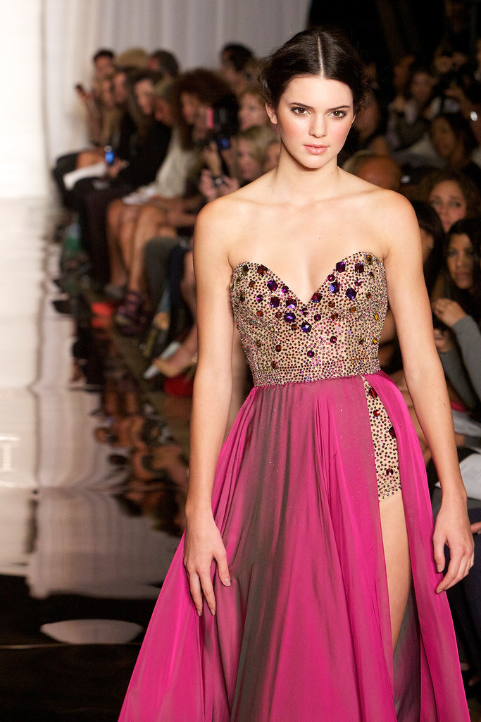 Kendall Jenner walks the runway at Evening By Sherri Hill