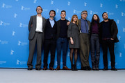 Screenwriter Bjorn Olaf Johannessen, producer Gian Piero Ringel and actors Robert Naylor, Marie Josee Croze, director Wim Wenders and actors Charlotte Gainsbourg and James Franco attend the 'Every Thing Will Be Fine' photocall during the 65th Berlinale International Film Festival at Grand Hyatt Hotel on February 10, 2015 in Berlin, Germany.