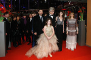 Actor James Franco, director Wim Wenders, actresses Charlotte Gainsbourg, Marie Josee Croze and Lilah Fitzgerald (front) attend the 'Every Thing Will Be Fine' premiere during the 65th Berlinale International Film Festival at Berlinale Palace on February 10, 2015 in Berlin, Germany.