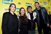 """(L-R) Megan Ellison, Ginger Sledge, Richard Linklater and Stephen Feder attend the screening of """"Everybody Wants Some"""" during the 2016 SXSW Music, Film + Interactive Festival at Paramount Theatre on March 11, 2016 in Austin, Texas."""