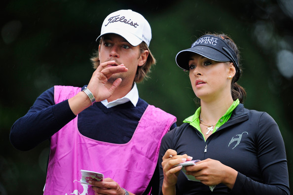 Maria verchenova maria verchenova of russia and caddie discuss her tee
