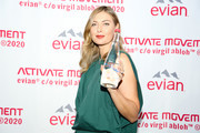 Maria Sharapova attends the Evian & Virgil Abloh Collaboration party at Milk Studios on February 10, 2020 in New York City.