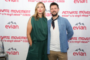Maria Sharapova and guest attend the Evian & Virgil Abloh Collaboration party at Milk Studios on February 10, 2020 in New York City.