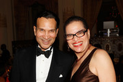 Khephra Burns and Julianne Malveaux attend the Torch Ball hosted by Evidence, A Dance Company at The Plaza Hotel on March 25, 2013 in New York City.