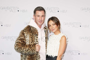 (L-R) Jochen Schropp and Janina Uhse attend the exclusive dinner and exhibition of the Giambattista Valli x H&M Collection at Elisabethkirche on November 06, 2019 in Berlin, Germany.