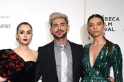 """Lilly Collins, Zac Efron and Angela Sarafyan attend """"Extremely Wicked, Shockingly Evil And Vile"""" - 2019 Tribeca Film Festival at BMCC Tribeca PAC on May 02, 2019 in New York City."""