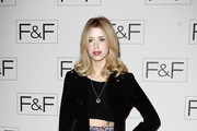Peaches Geldof attends the F&F aw14 Fashion show at Somerset House on April 3, 2014 in London, England.