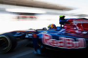 Jaime Alguersuari of Spain and Scuderia Toro Rosso is seen during practice for the Brazilian Formula One Grand Prix at the Autodromo Jose Carlos Pace on November 25, 2011 in Sao Paulo, Brazil.