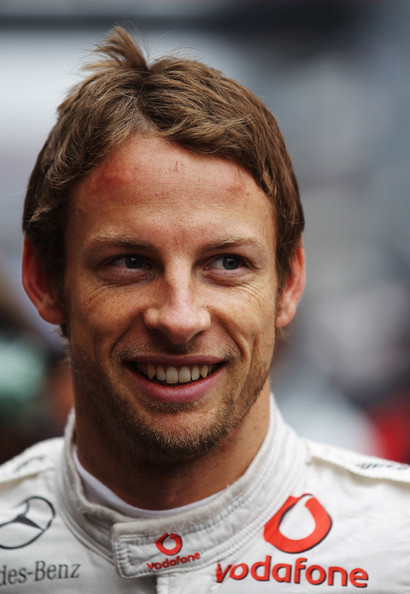 Jenson Button of Great Britain and McLaren Mercedes is seen on the grid before the Chinese Formula One Grand Prix at the Shanghai International Circuit on April 18, 2010 in Shanghai, China.