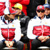 Antonio Giovinazzi Photos - Antonio Giovinazzi of Italy and Alfa Romeo Racing and Kimi Raikkonen of Finland and Alfa Romeo Racing look on before the F1 Grand Prix of China at Shanghai International Circuit on April 14, 2019 in Shanghai, China. - Antonio Giovinazzi Photos - 5 of 160