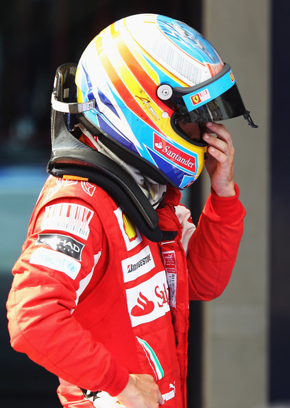 Fernando Alonso of Spain and Ferrari is seen in parc ferme following the Turkish Formula One Grand Prix at Istanbul Park on May 30, 2010, in Istanbul, Turkey.