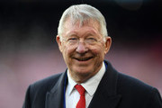Sir Alex Ferguson looks on prior to the UEFA Champions League Quarter Final second leg match between FC Barcelona and Manchester United at Camp Nou on April 16, 2019 in Barcelona, Spain.