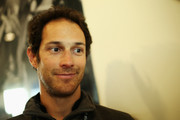Bruno Senna of Vaillante Rebellion team is interviewed by the media following practice for the FIA World Endurance Championship at Silverstone on April 15, 2017 in Northampton, England.