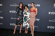(L-R) Brittany Xavier, Sazan Hendrix and Louise Roe at the 2017 InStyle Awards presented in partnership with FIJI WaterAssignment at The Getty Center on October 23, 2017 in Los Angeles, California.