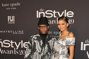 (L-R) Law Roach and Zendaya attends the Fifth Annual InStyle Awards with FIJI Water on October 21, 2019 in Los Angeles, California.