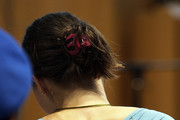 Amanda Knox attends a session of the Meredith Kercher murder trial at the Perugia courthouse on June 19, 2009 in Perugia, Italy. Amanda Knox and her former Italian boyfriend Raffaele Sollecito have been charged with the murder of British student Meredith Kercher on November 1, 2007 in Italy.