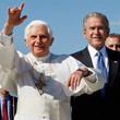 George W Bush and Pope Benedict XVI