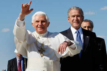 Pope Benedict XVI (FILE) Former US President George W Bush Publishes His New Book