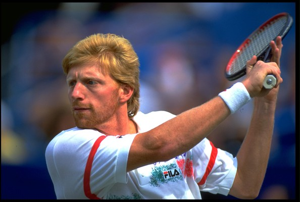 boris becker in file scenes from past us open tournaments zimbio. Black Bedroom Furniture Sets. Home Design Ideas