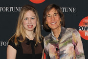 Chelsea Clinton and Pattie Sellers attend the FORTUNE Most Powerful Women Summit on October 17, 2013 in Washington, DC.