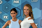Pia Wurtzbach and Olivia Jordan attend FOX 2016 Upfront at Wollman Rink on May 16, 2016 in New York City.