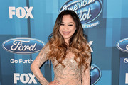 """Singer Jessica Sanchez attends FOX's """"American Idol"""" Finale For The Farewell Season at Dolby Theatre on April 7, 2016 in Hollywood, California."""